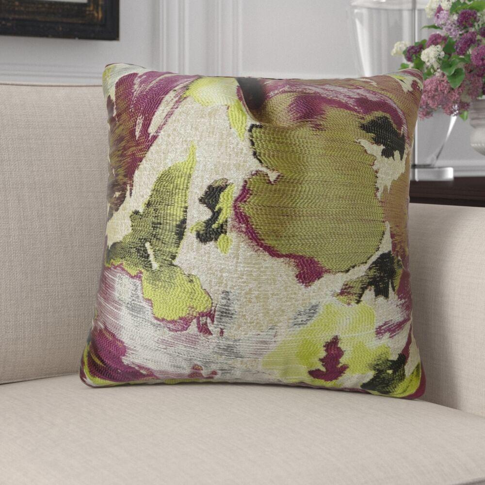 Eells Fuchsia Citrine Greige Luxury Pillow Fill Material: H-allrgnc Polyfill, Size: 26