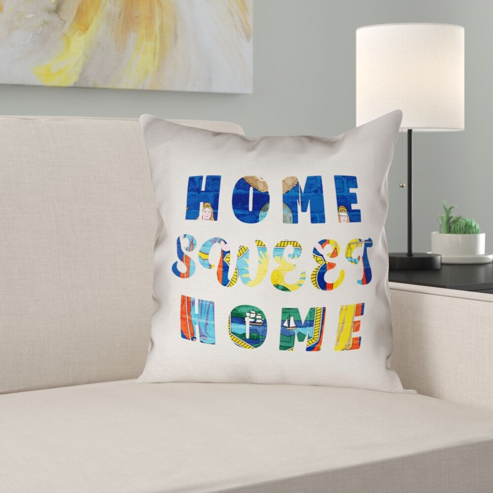 Centeno Home Sweet New York Pillow Case Size: 16