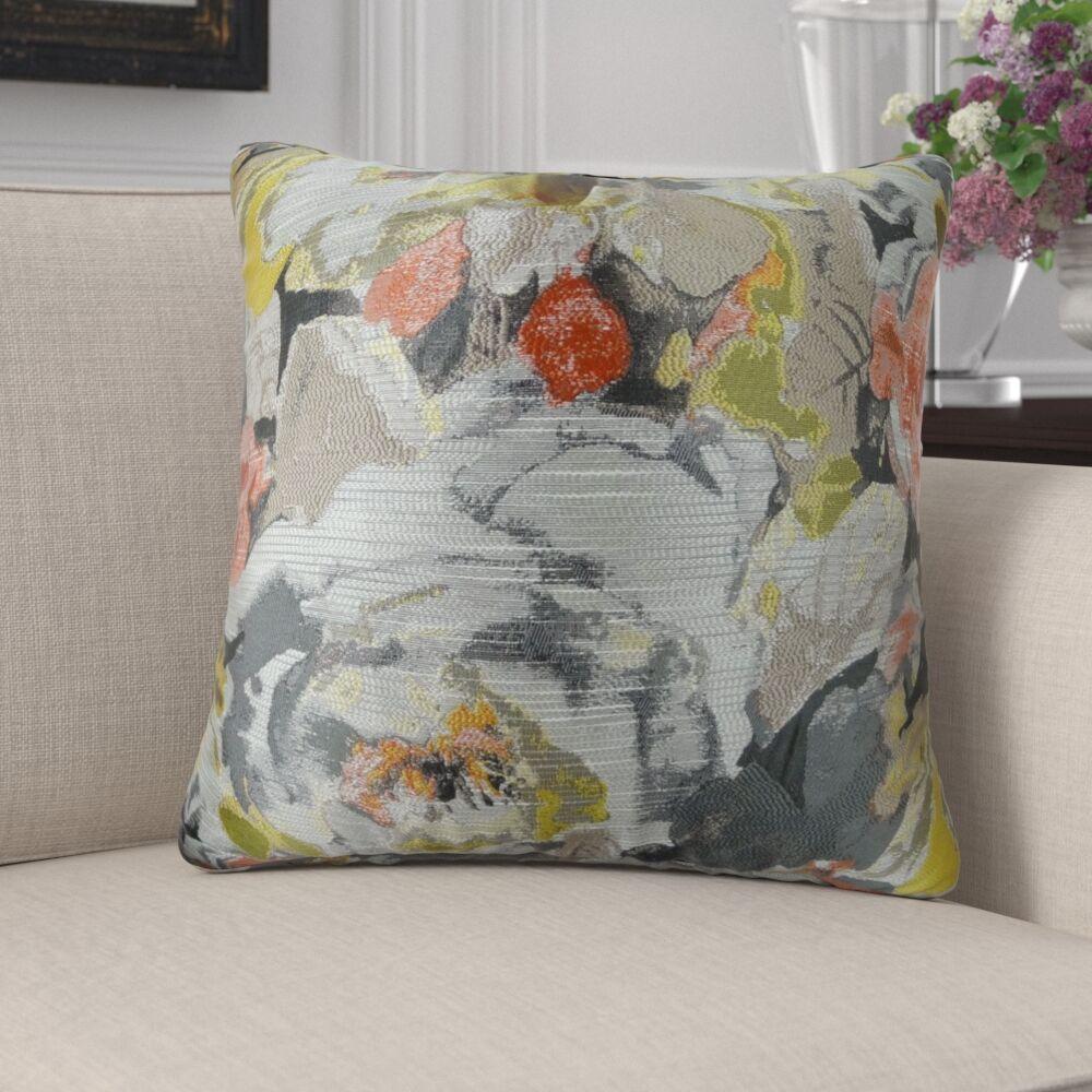 Edmonds Floral Greige Luxury Pillow Size: 12