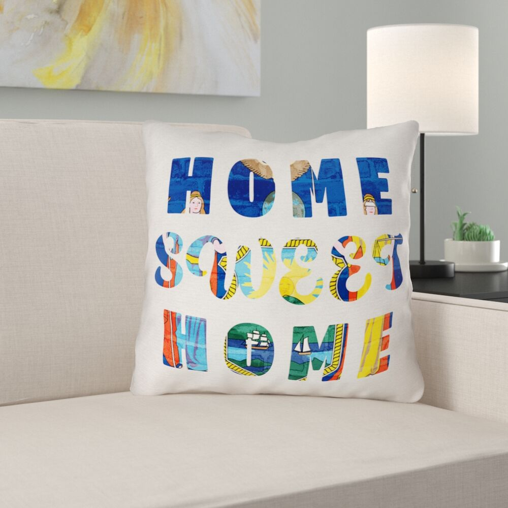 Centeno Home Sweet New York Pillow Size: 26