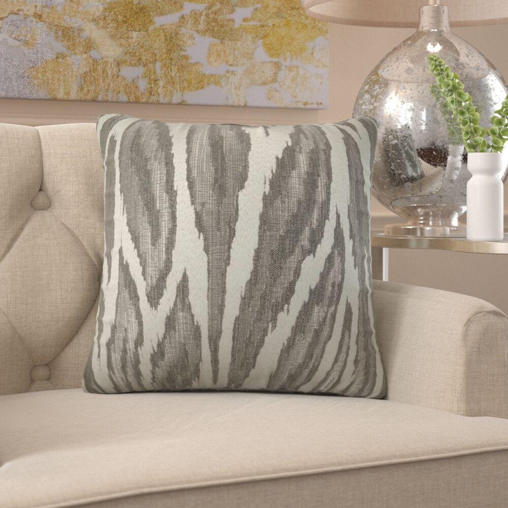 Freda Metallic Glacier Luxury Pillow Fill Material: H-allrgnc Polyfill, Size: 16