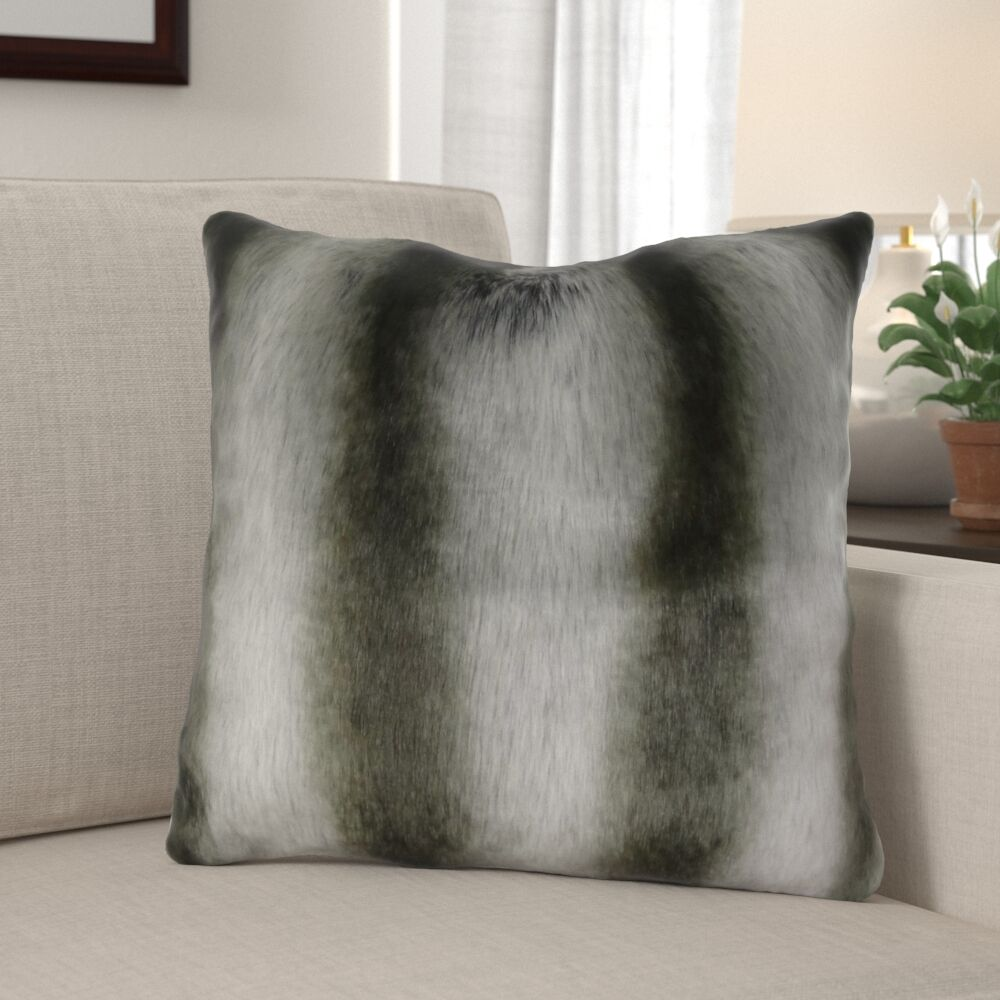 Wagner Luxury Chinchilla Faux Fur Pillow Fill Material: Cover Only - No Insert, Size: 12