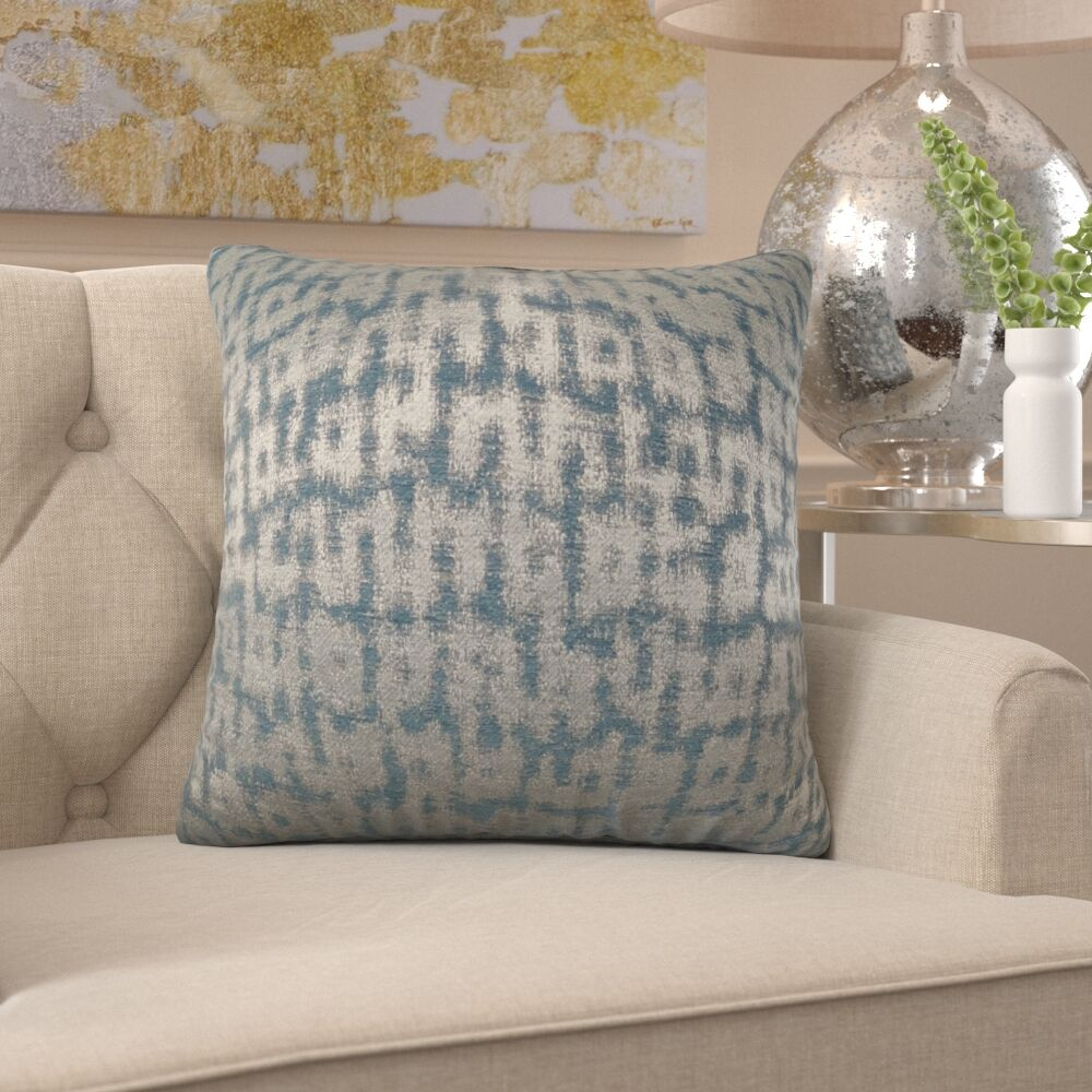 Friar Metallic Pillow Fill Material: Cover Only - No Insert, Size: 26