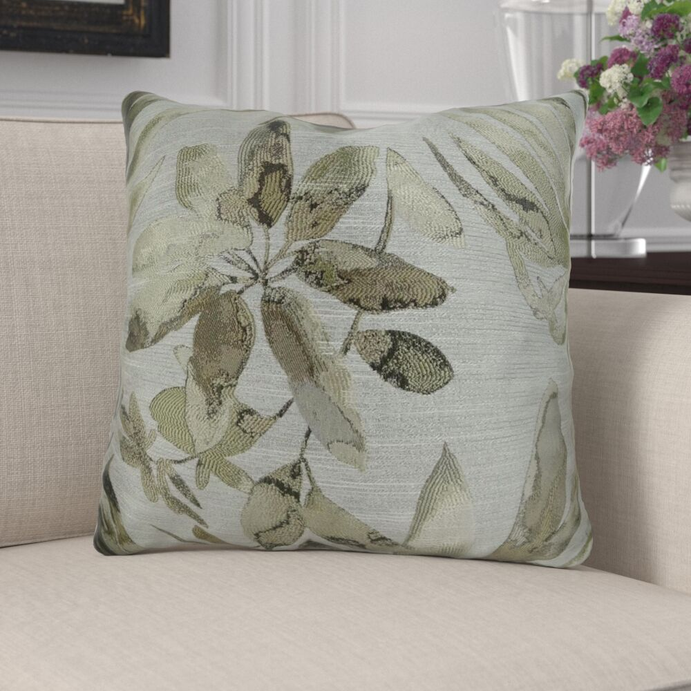 Efird Floral Designer Luxury Pillow Fill Material: 95/5 Feather/Down, Size: 12