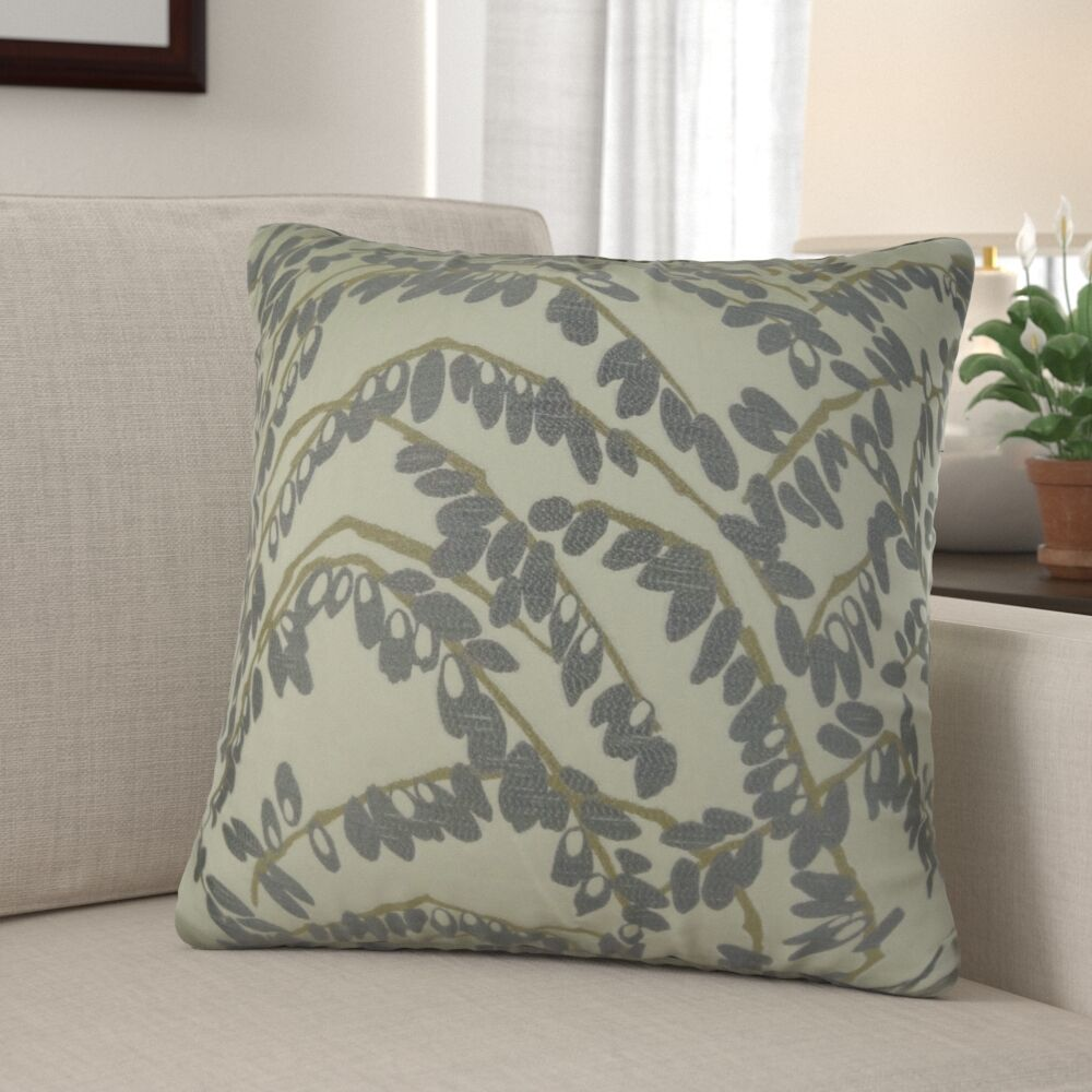 Dennett Olive Branch Pillow Fill Material: Cover Only - No Insert, Size: 20