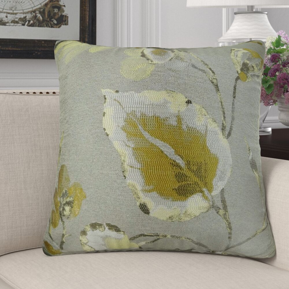 Efird Floral Luxury Pillow Fill Material: Cover Only - No Insert, Size: 20