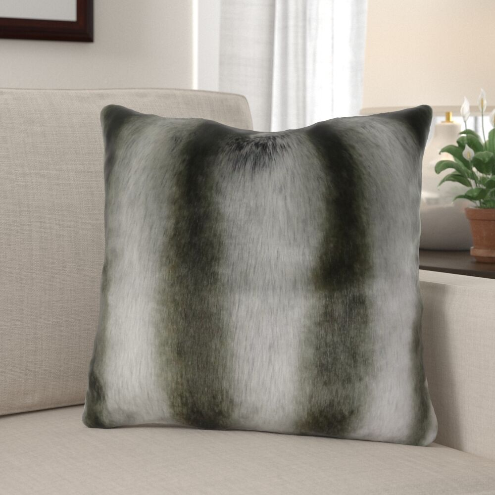 Wagner Luxury Chinchilla Faux Fur Pillow Fill Material: H-allrgnc Polyfill, Size: 24