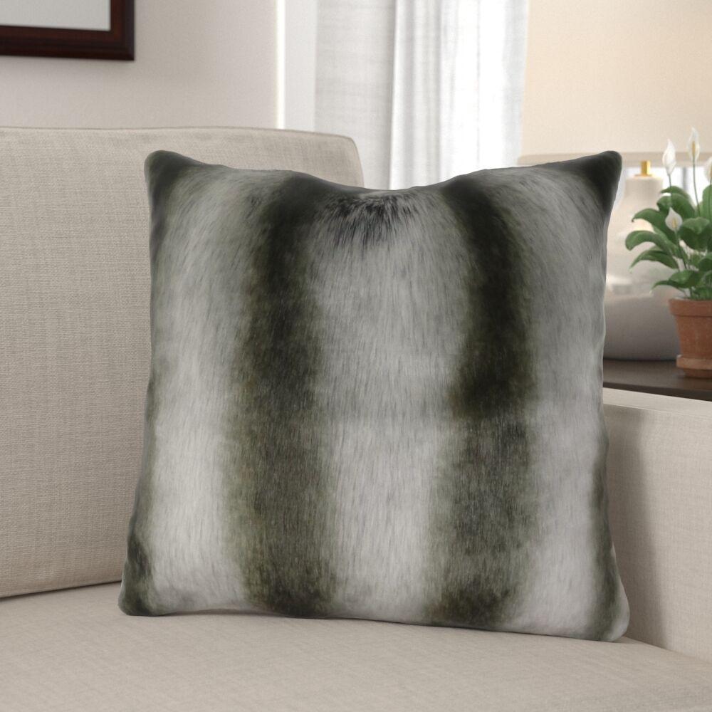 Wagner Luxury Chinchilla Faux Fur Pillow Size: 20