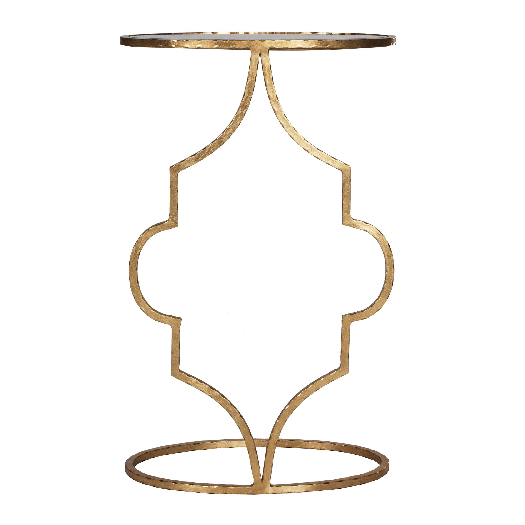 Hammered Cigar C Table Color: Gold