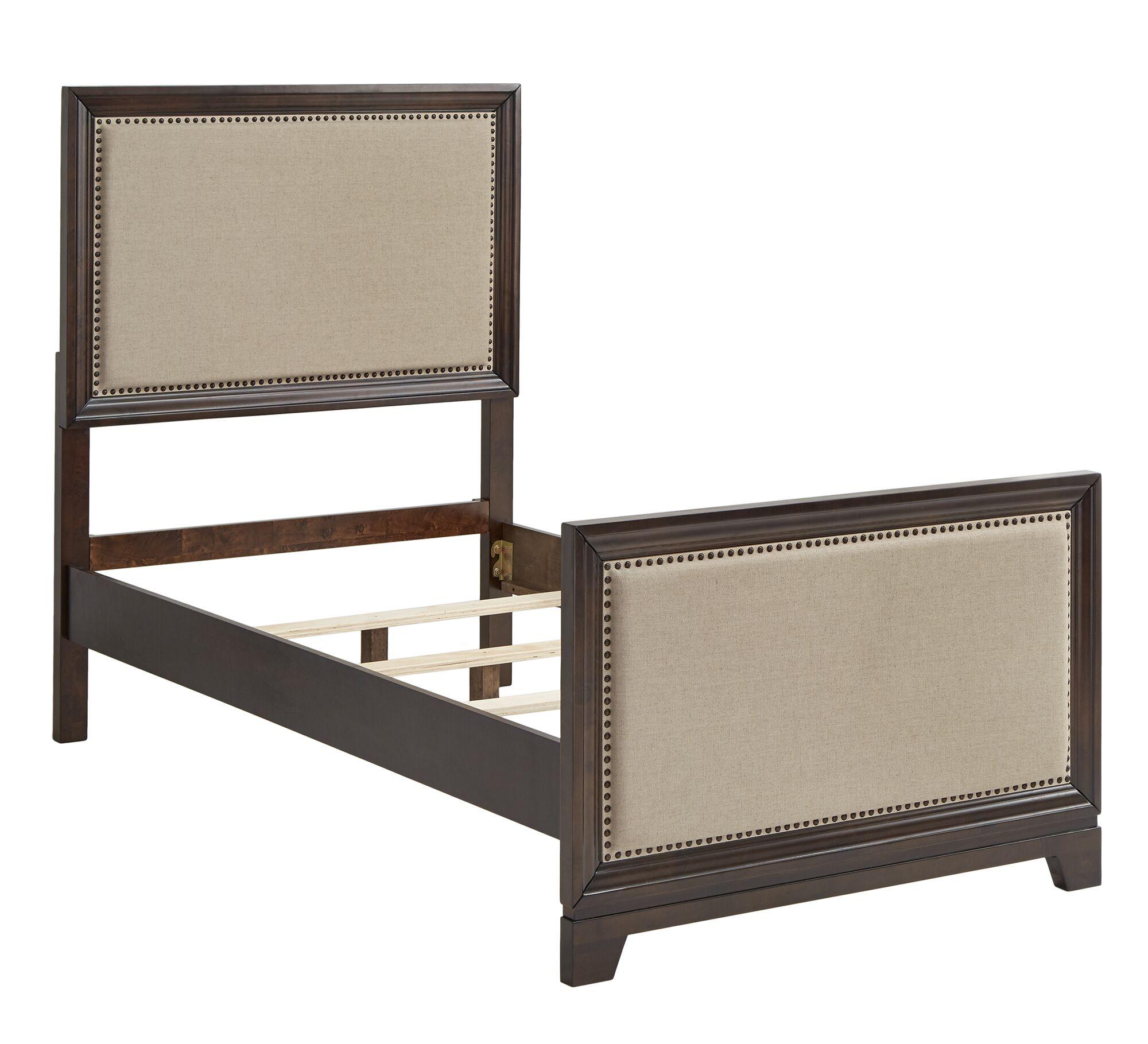 Broseley Upholstered Panel Bed Color: Beige, Size: Queen