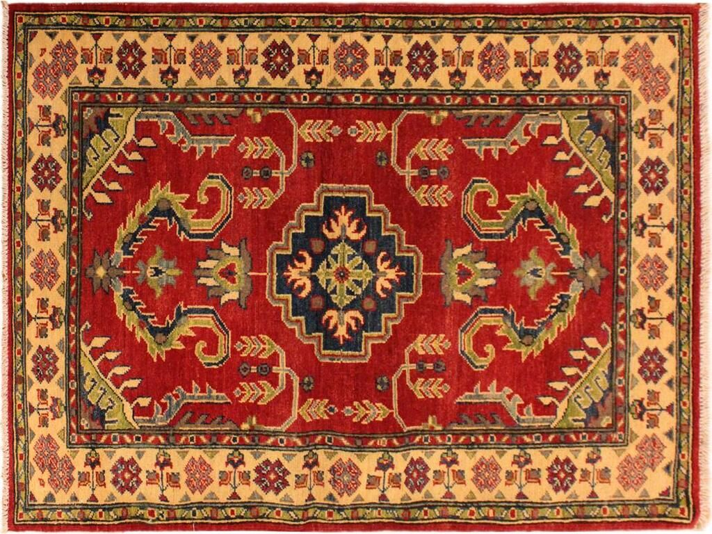 One-of-a-Kind Norwood Hand-Knotted Red/Ivory Area Rug