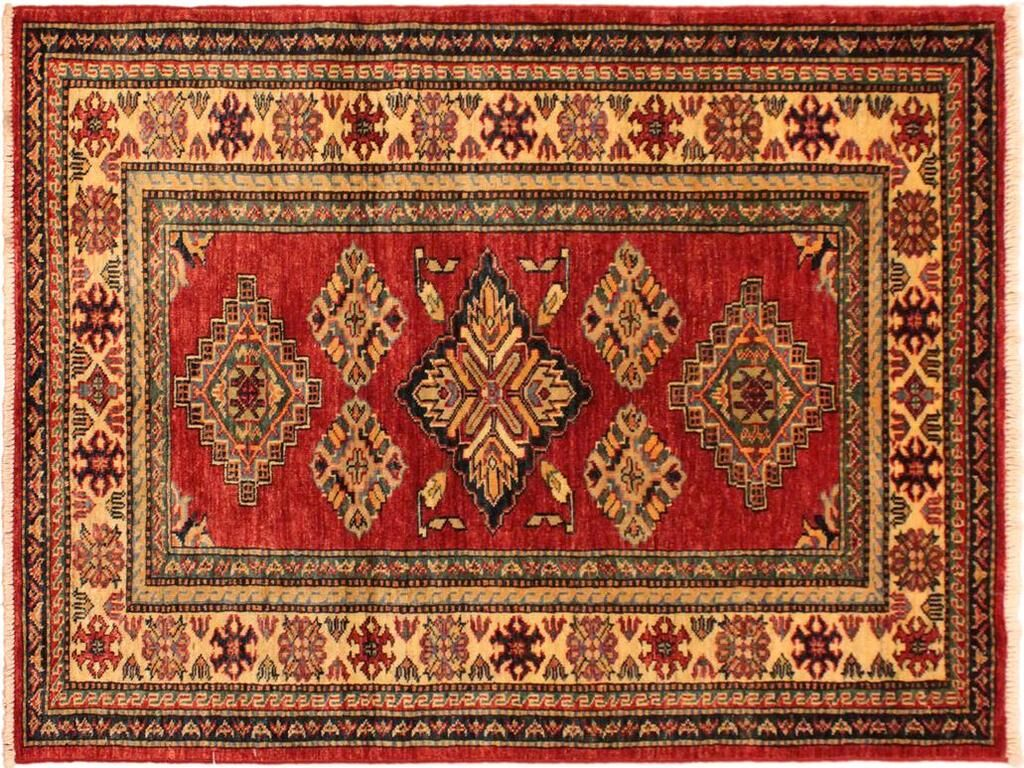 One-of-a-Kind Norwood Hand-Knotted Red/Tan Area Rug