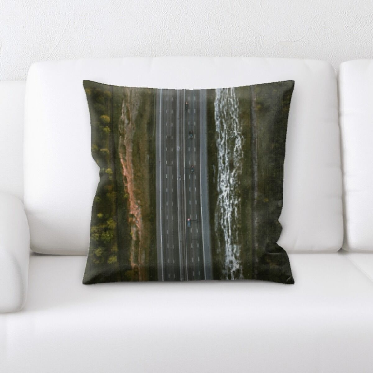 Haywa A Road to Many Places (6) Throw Pillow