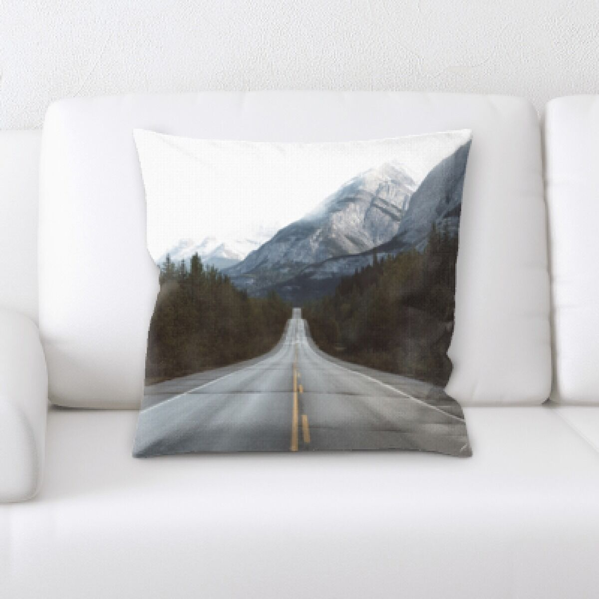 Ramsel A Road to Many Places (106) Throw Pillow