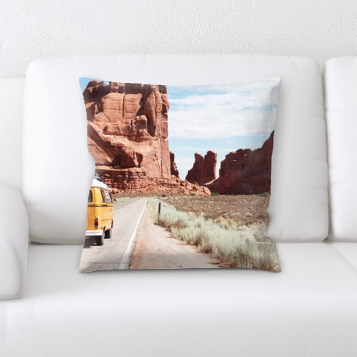 Huerta A Road to Many Places (158) Throw Pillow