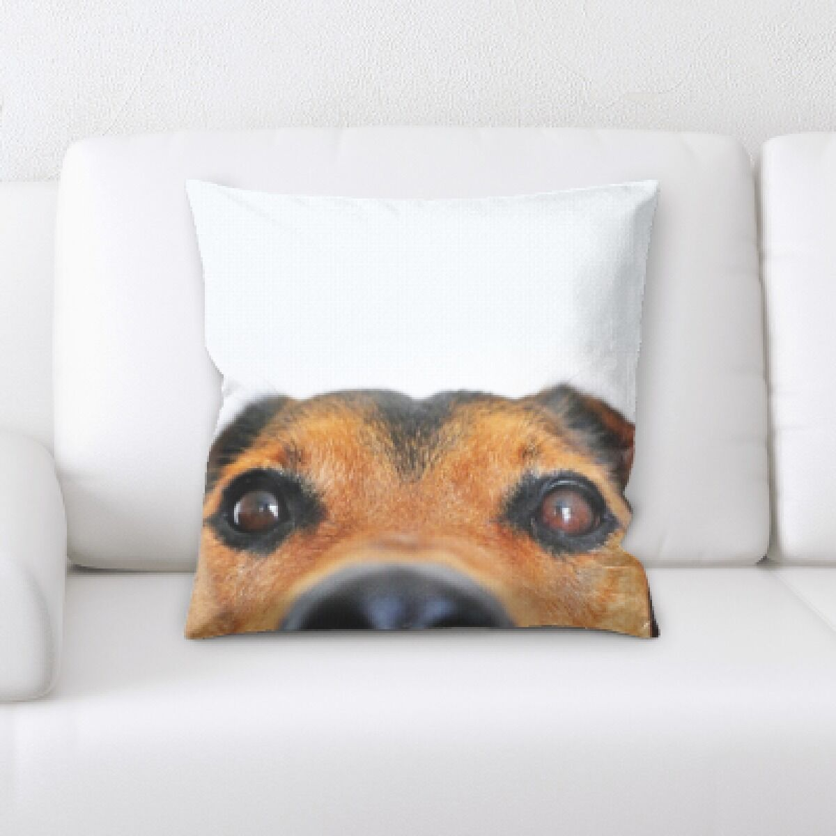 Aiden Dog Portrait (24) Throw Pillow