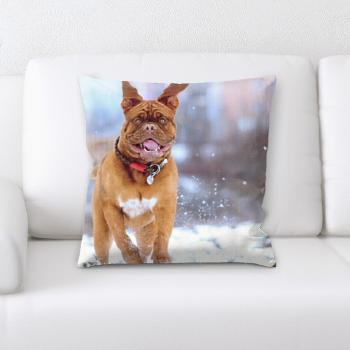 Aiden Dog Portrait (32) Throw Pillow