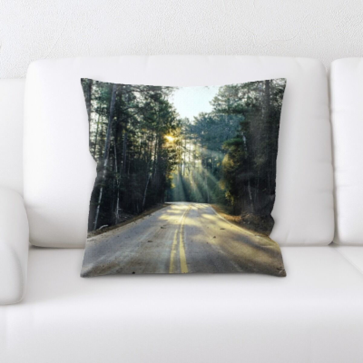 Nottingham A Road to Many Places (69) Throw Pillow