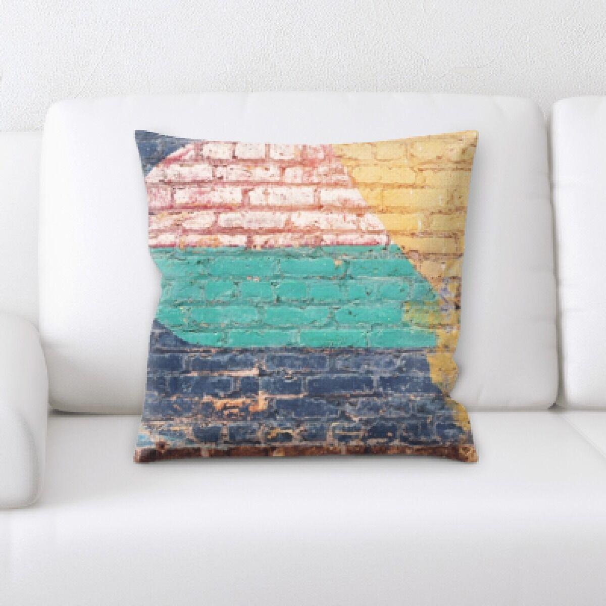 Lake Art on the Wall Throw Pillow