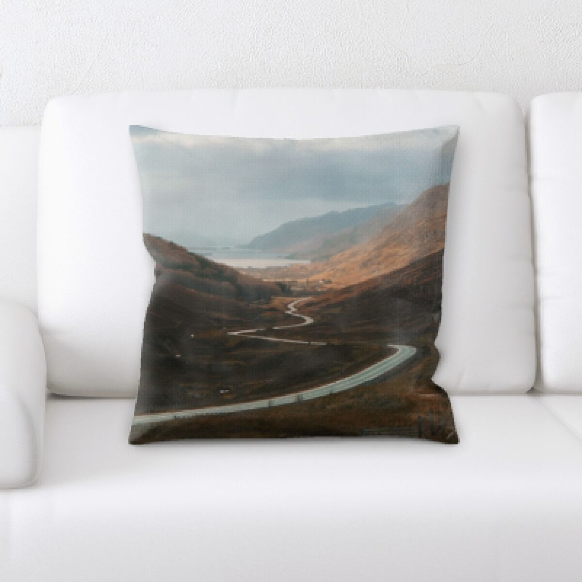 Robblee A Road to Many Places (129) Throw Pillow