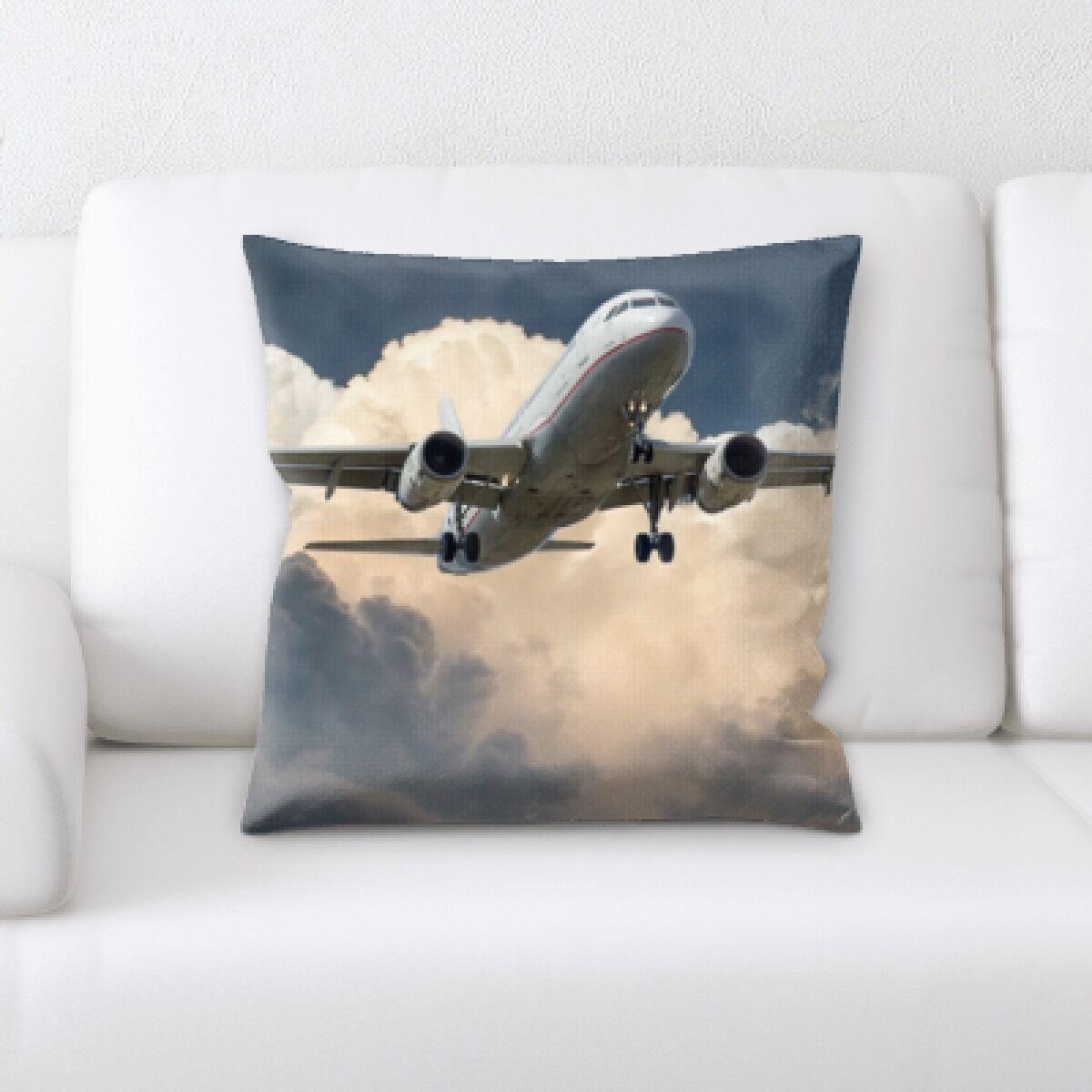 Reanna Airplane Landing (4) Throw Pillow