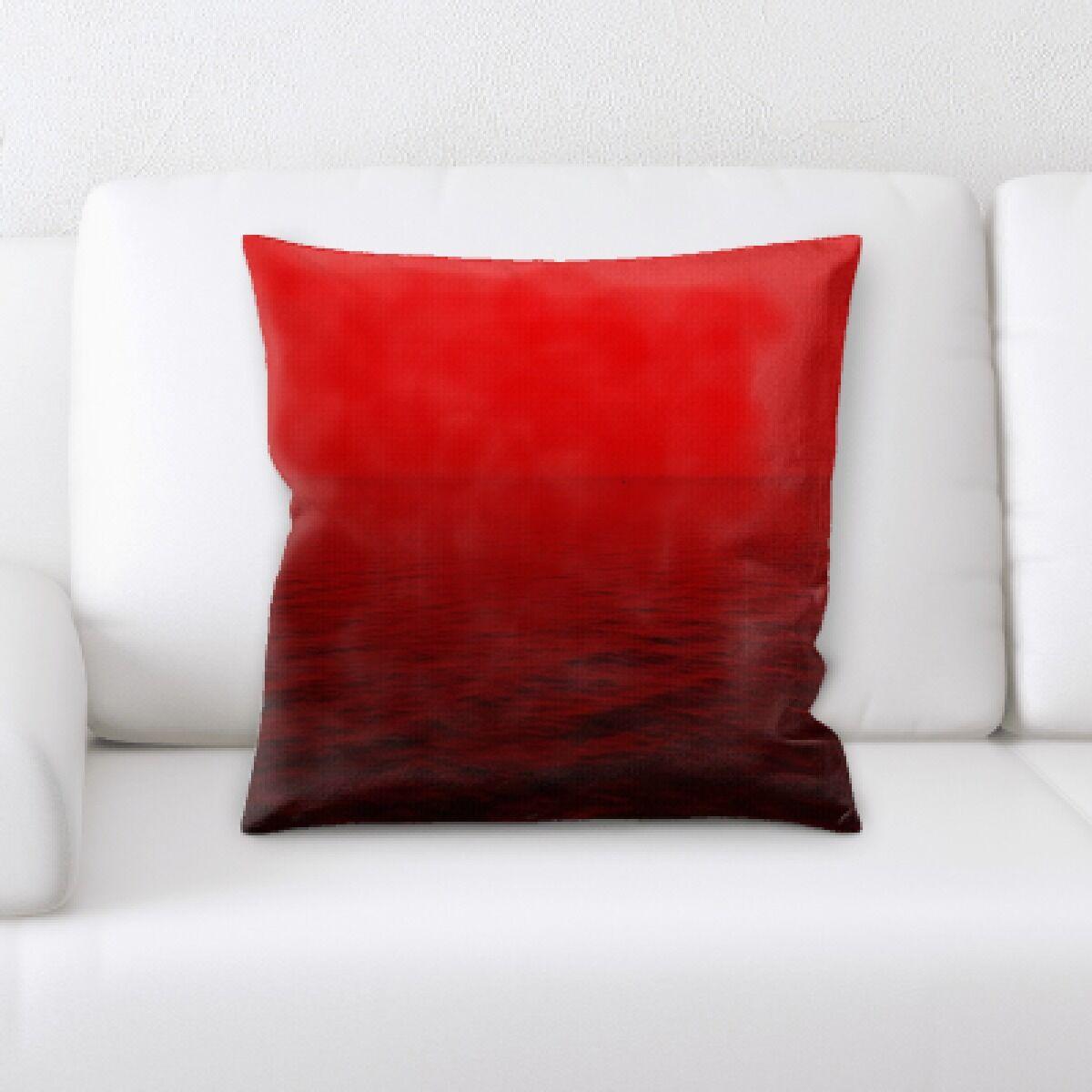 Lamar Red Throw Pillow