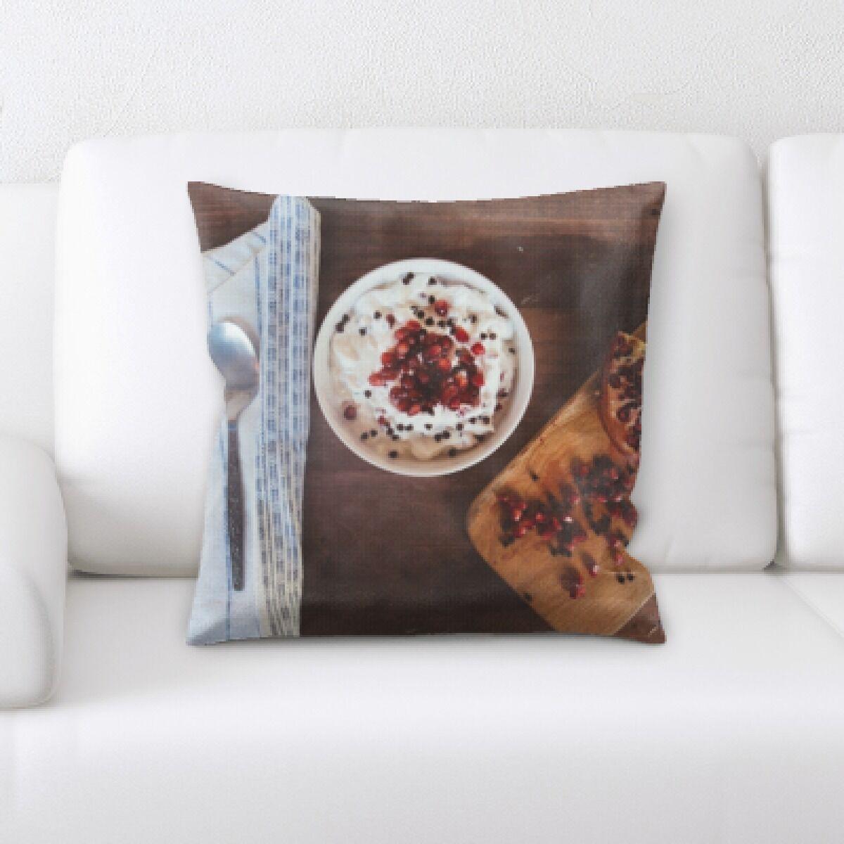 Appetizing Food (4) Throw Pillow