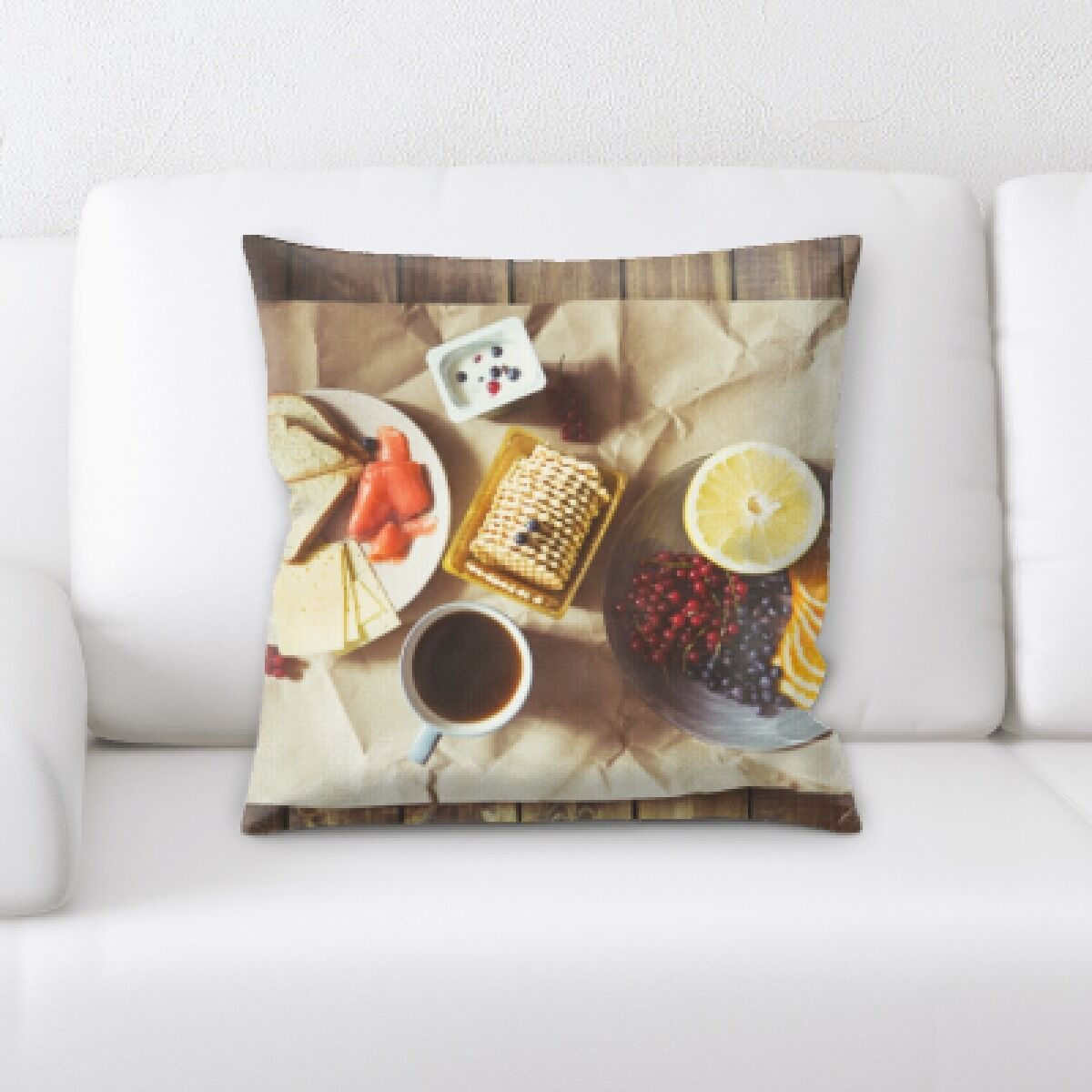 Appetizing Food (6) Throw Pillow