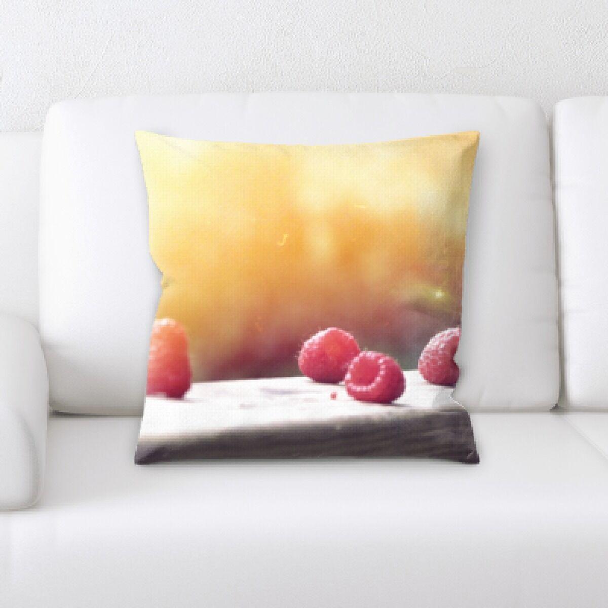 Appetizing Food (16) Throw Pillow