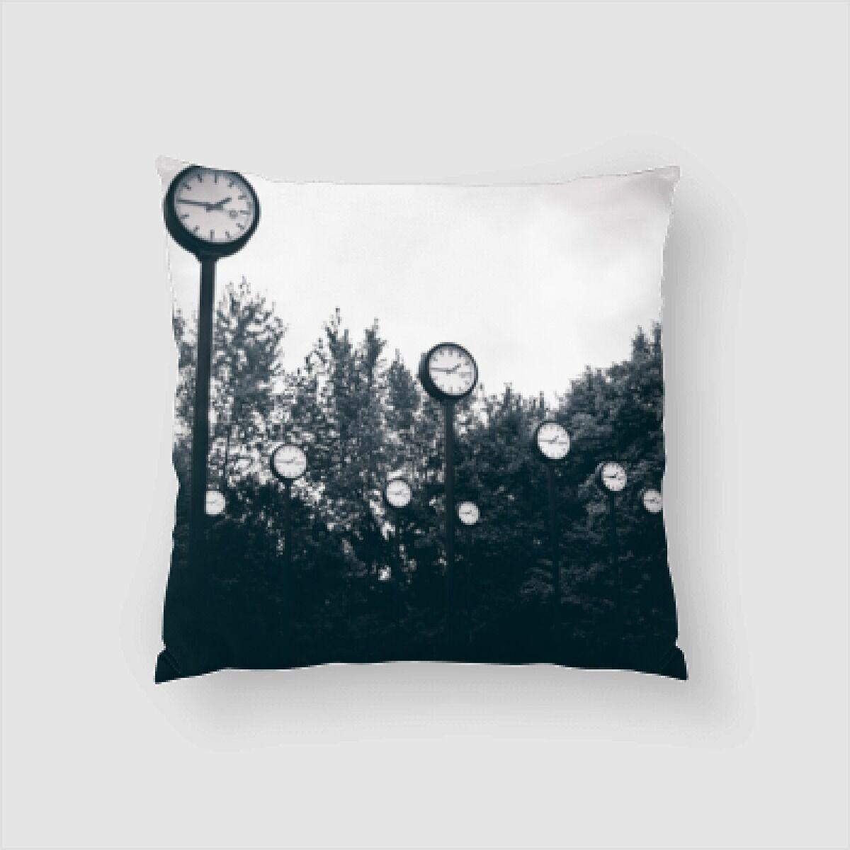 Albie Clock Throw Pillow