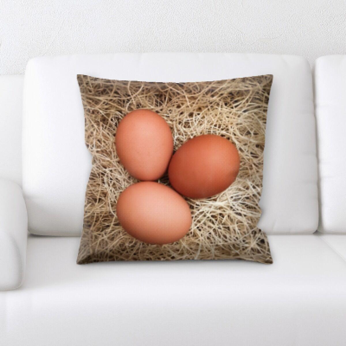 Edgao Eggs Throw Pillow