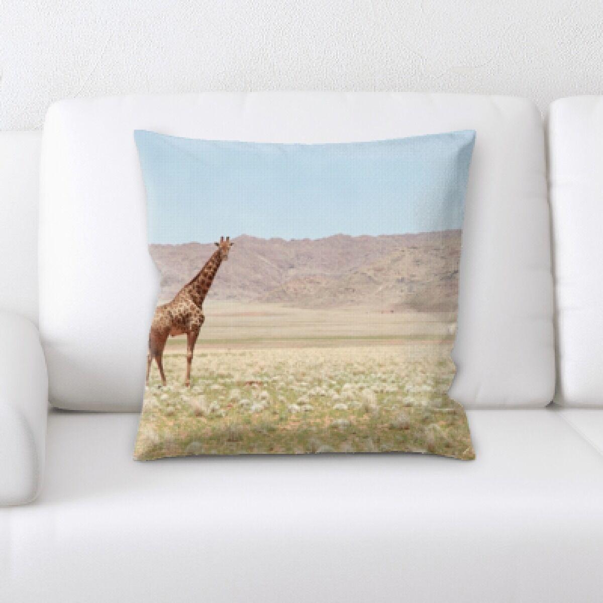 Elyssa Giraffe Throw Pillow