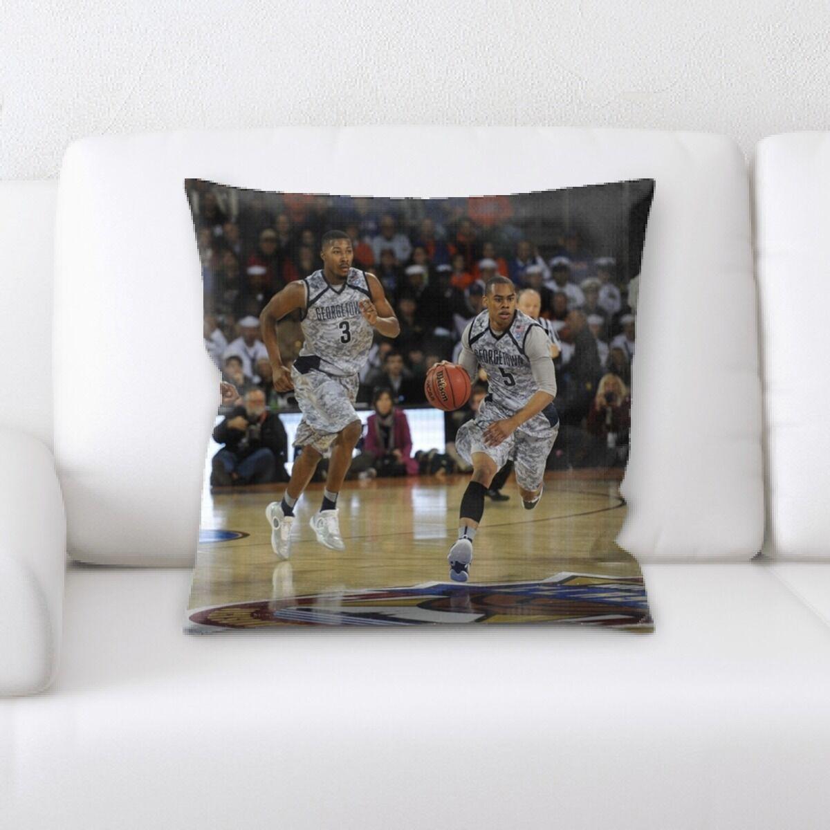 Drummond Basketball Game Throw Pillow