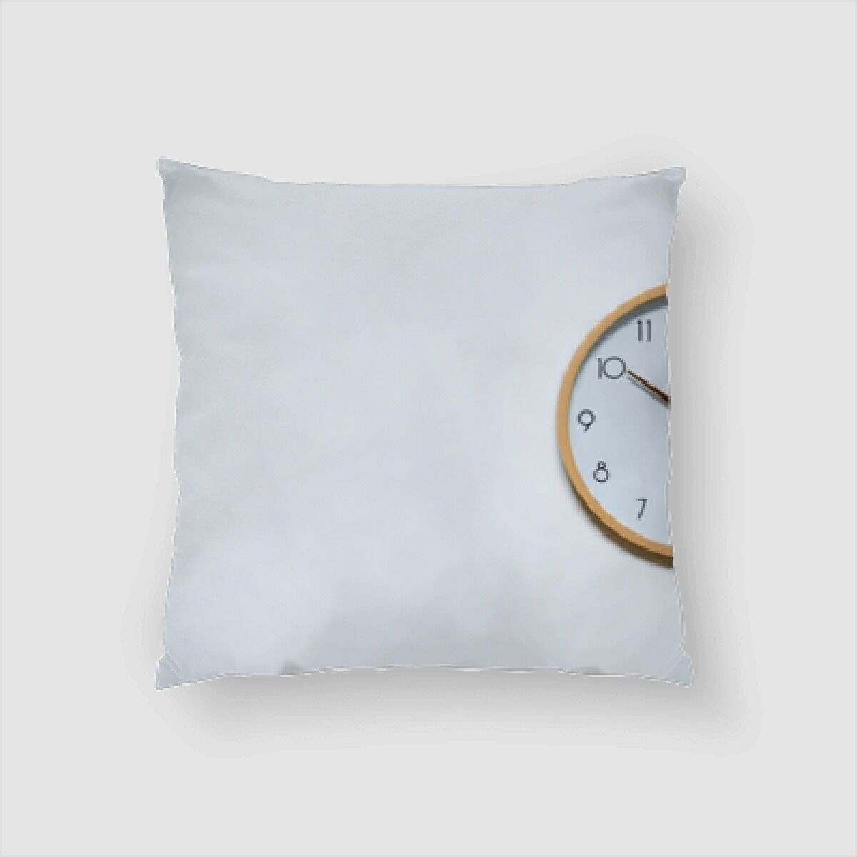 Albie Clock on a Background Throw Pillow