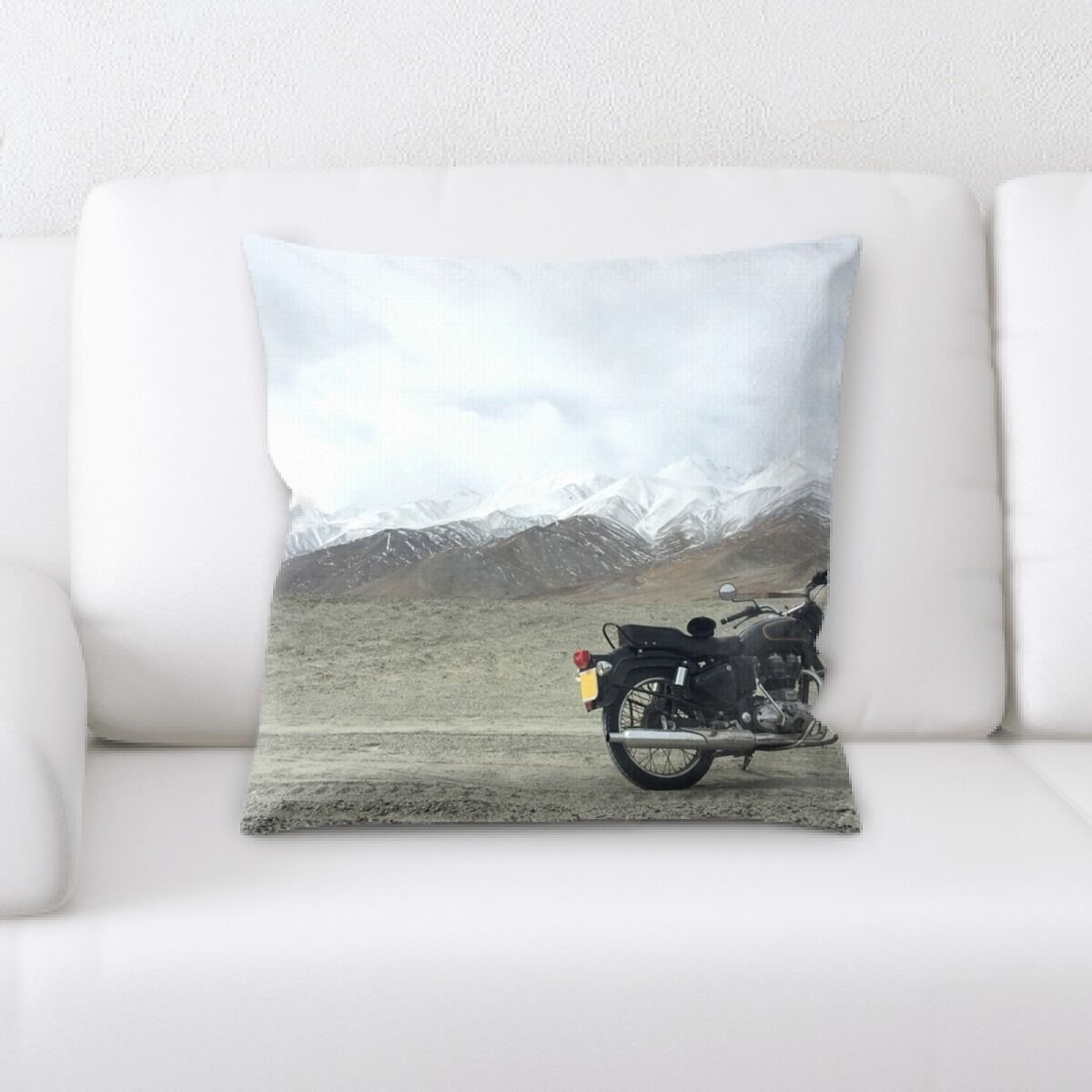Desert Bike (2) Throw Pillow