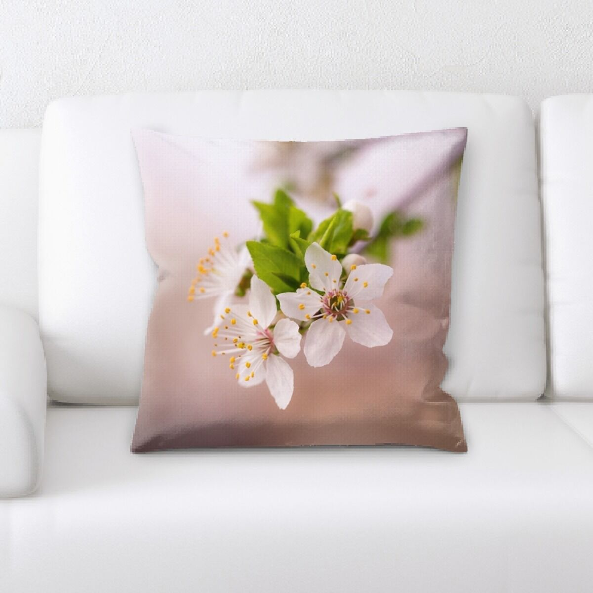 Close up Spring Flowers (11) Throw Pillow