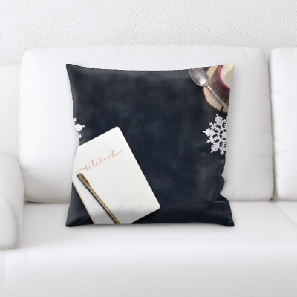 Johnone Coffee and Notebook Throw Pillow