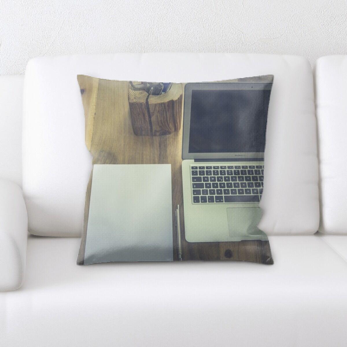 Juanita Computer and Writing Material Throw Pillow