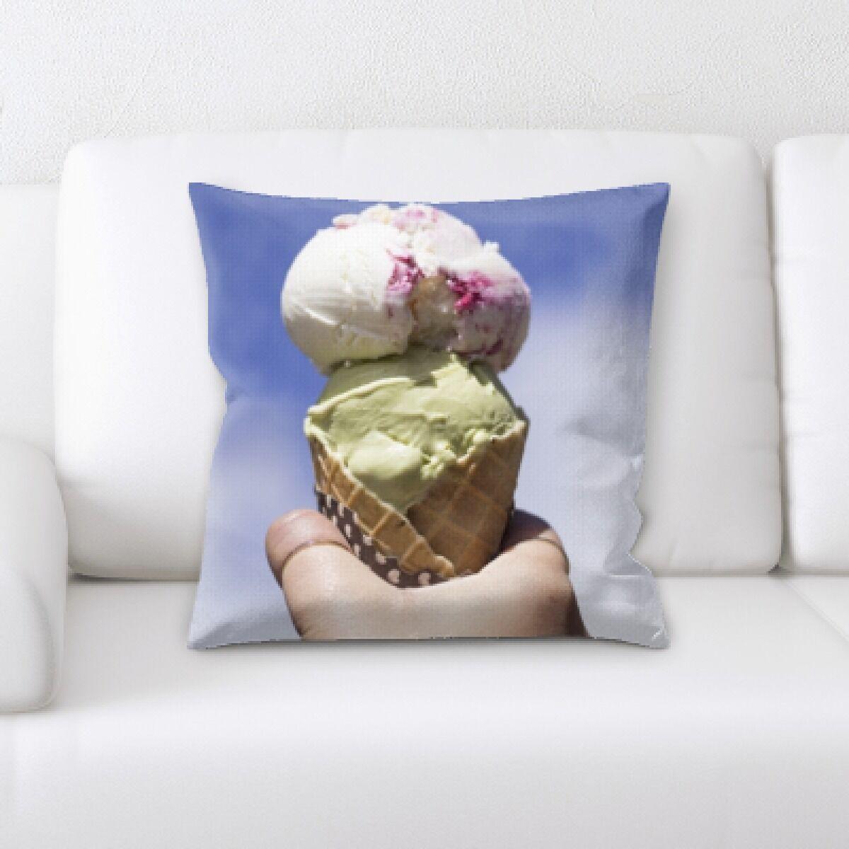 Oconnell Holding Ice Cream (1) Throw Pillow