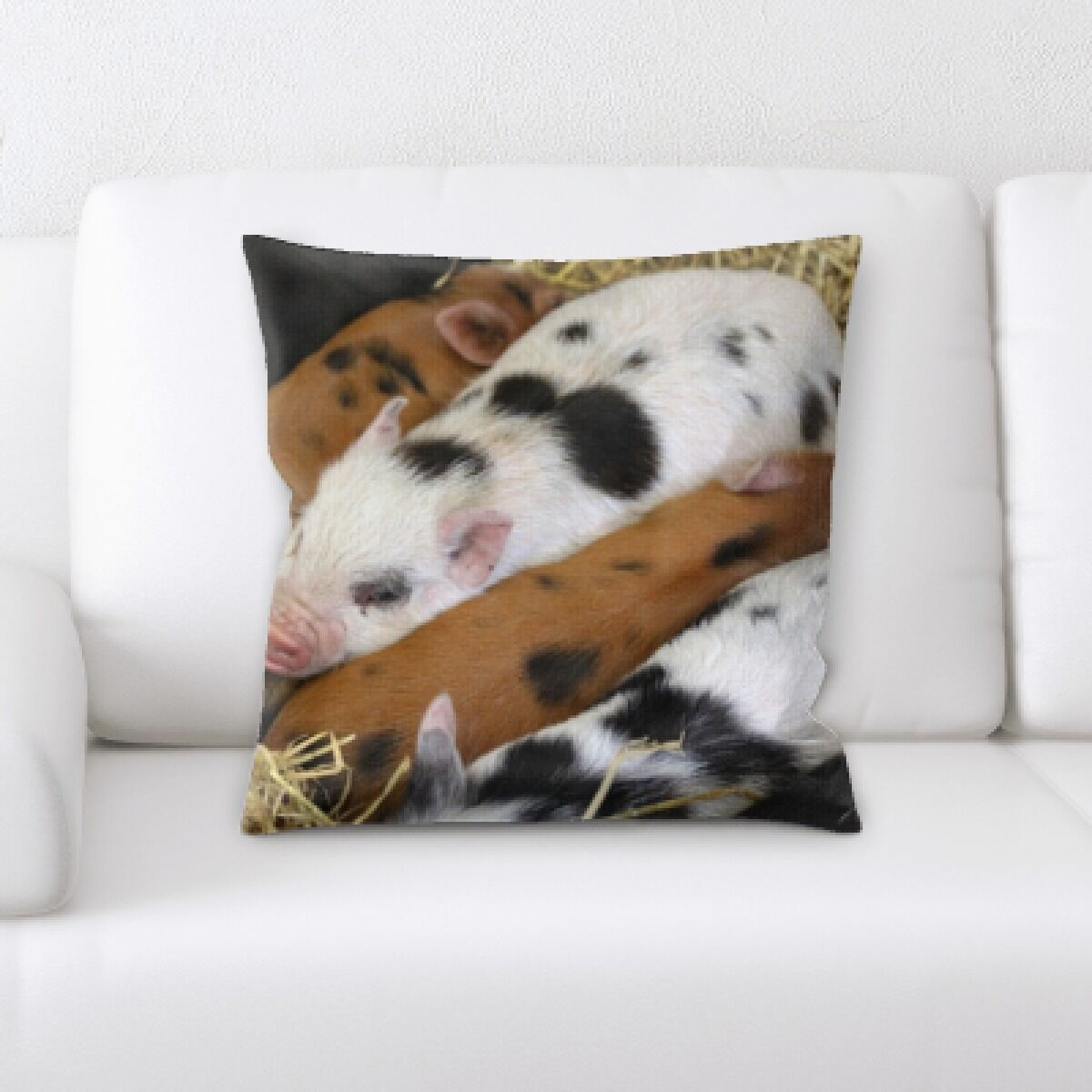Amatia Pig (4) Throw Pillow