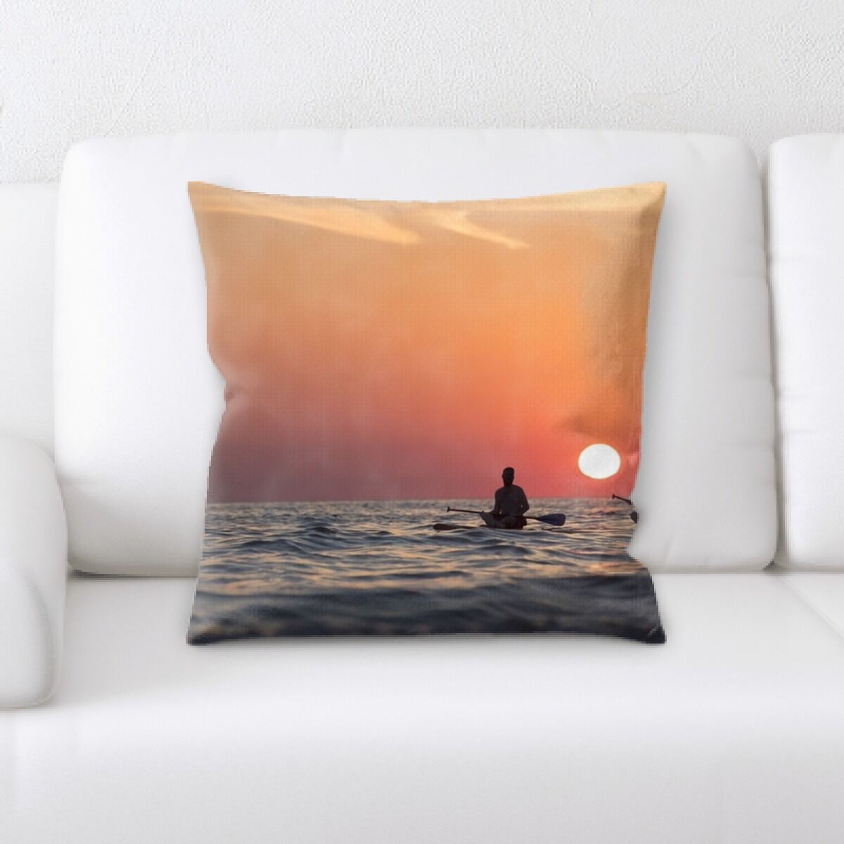 Walsh Sunset Throw Pillow
