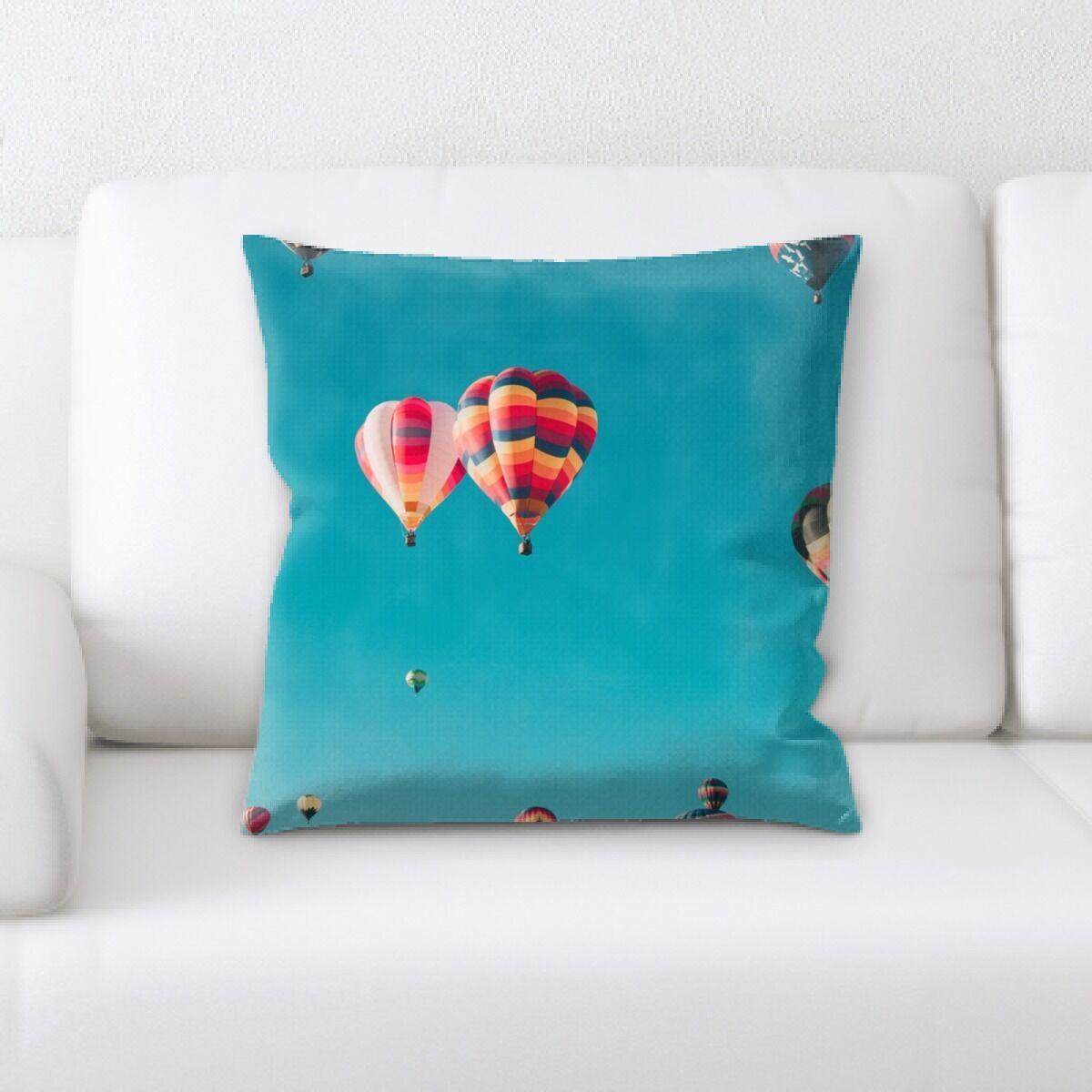 Laughlin Hot Air Balloon (23) Throw Pillow