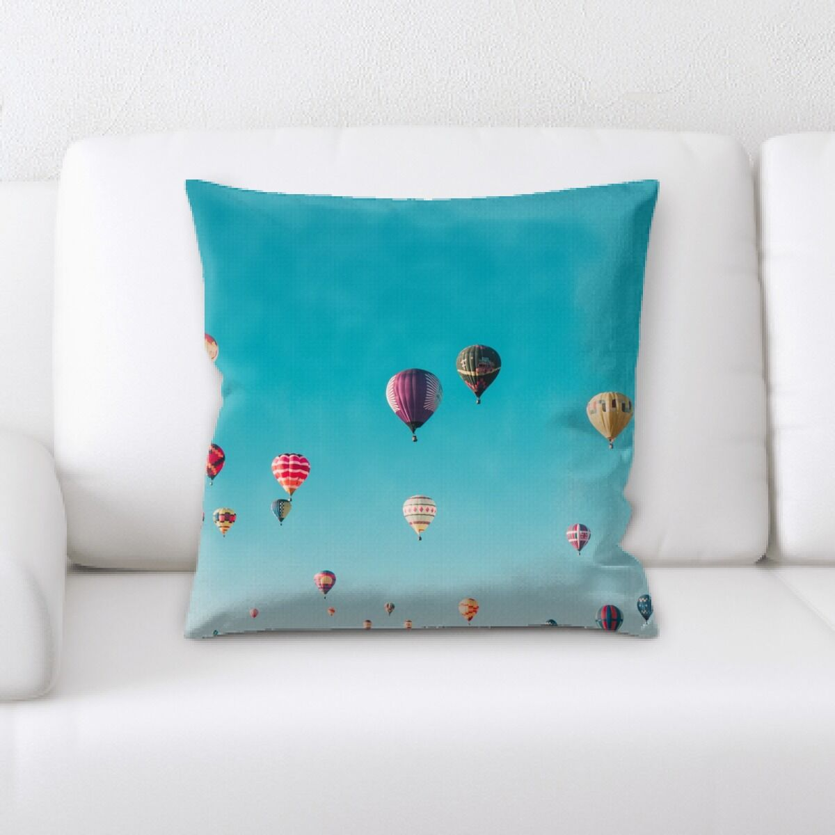 Laughlin Hot Air Balloon (24) Throw Pillow