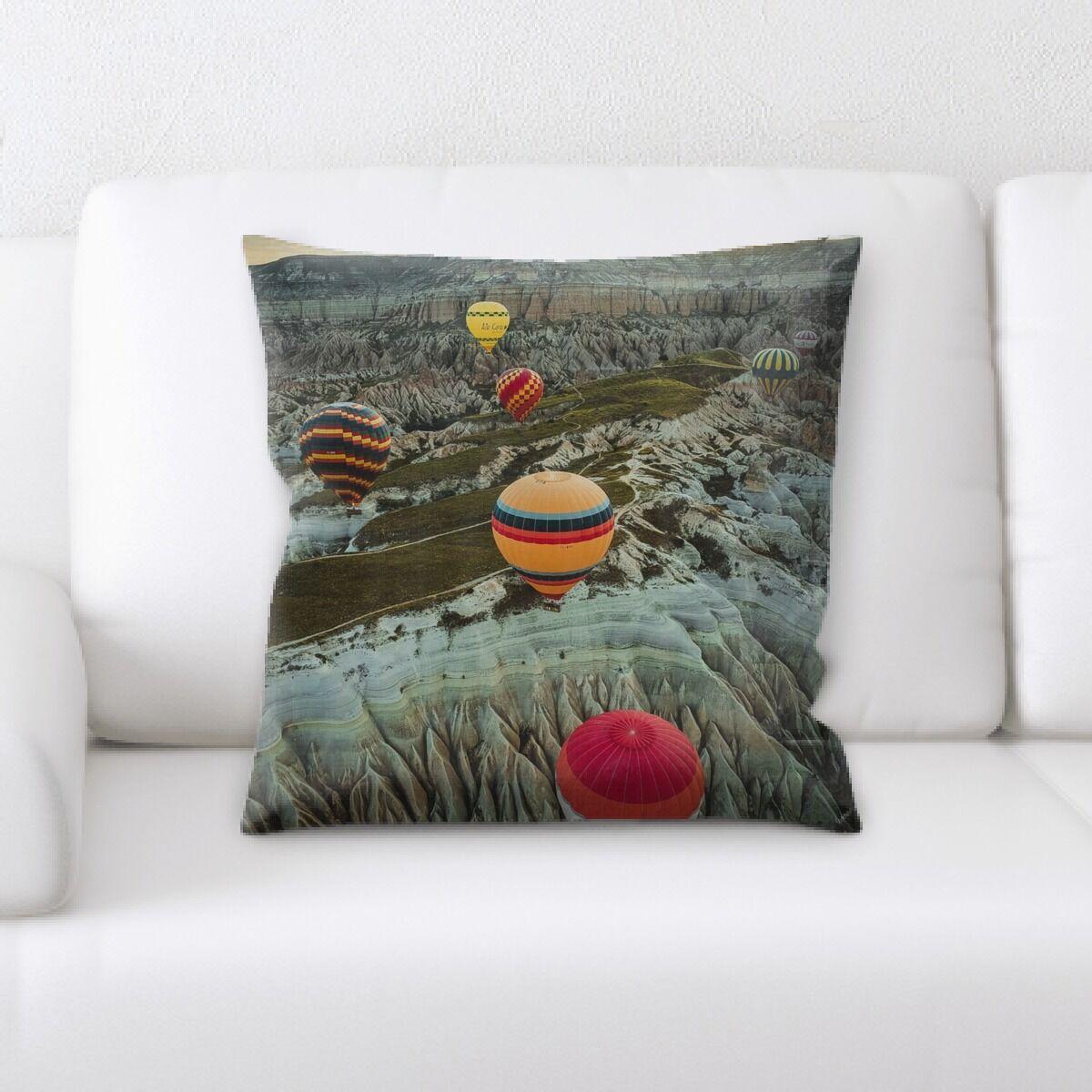 Laughlin Hot Air Balloon (31) Throw Pillow