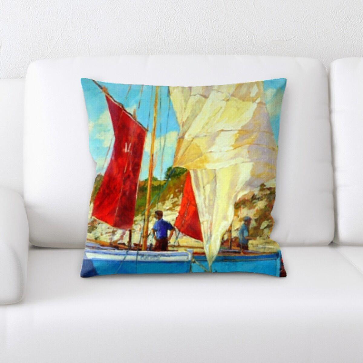 Wiggins Sail Boats Throw Pillow