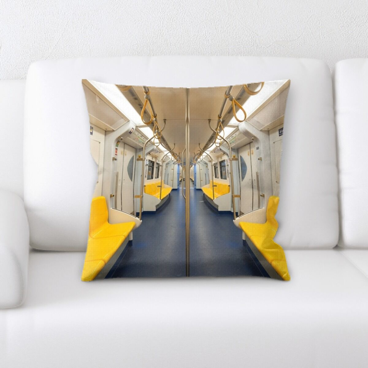 Parkridge Inside the Train (2) Throw Pillow