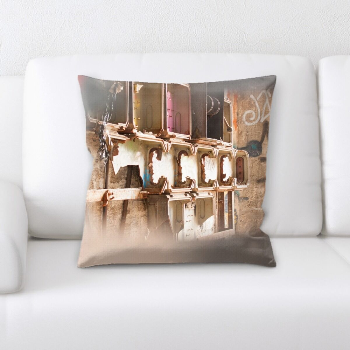 Ortiz Old and Abandoned (132) Throw Pillow