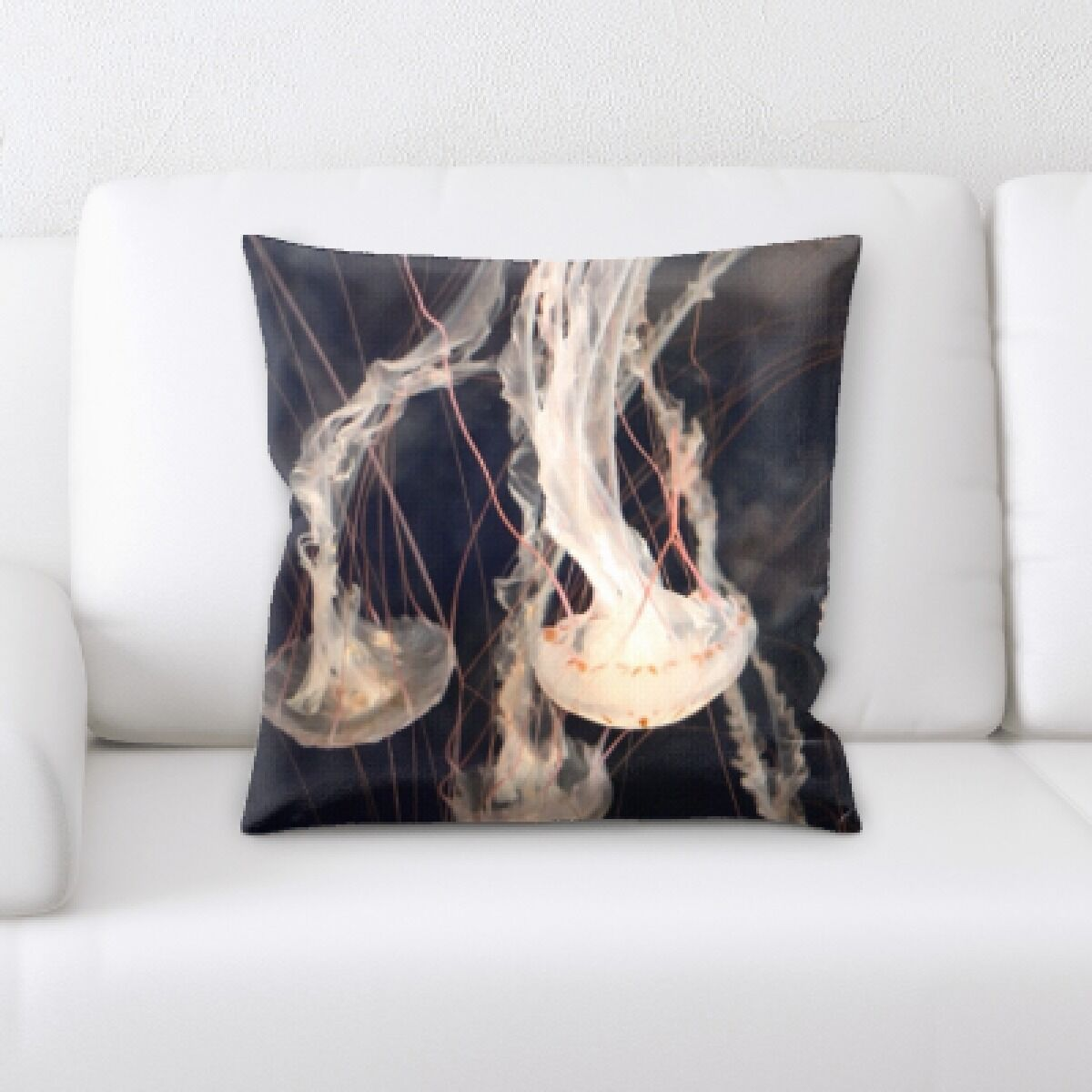 Patson Jelly Fish (1) Throw Pillow