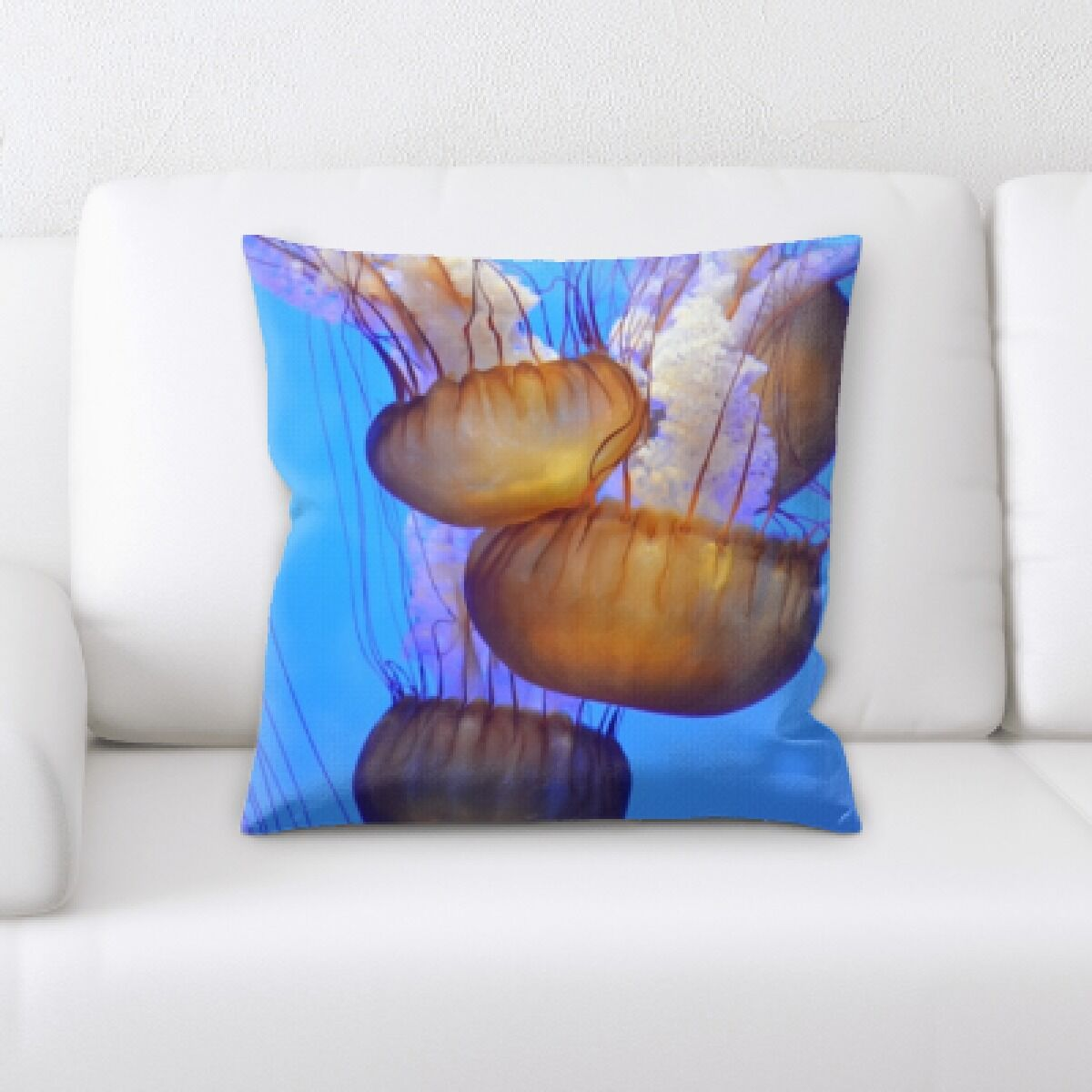 Patson Jelly Fish (7) Throw Pillow