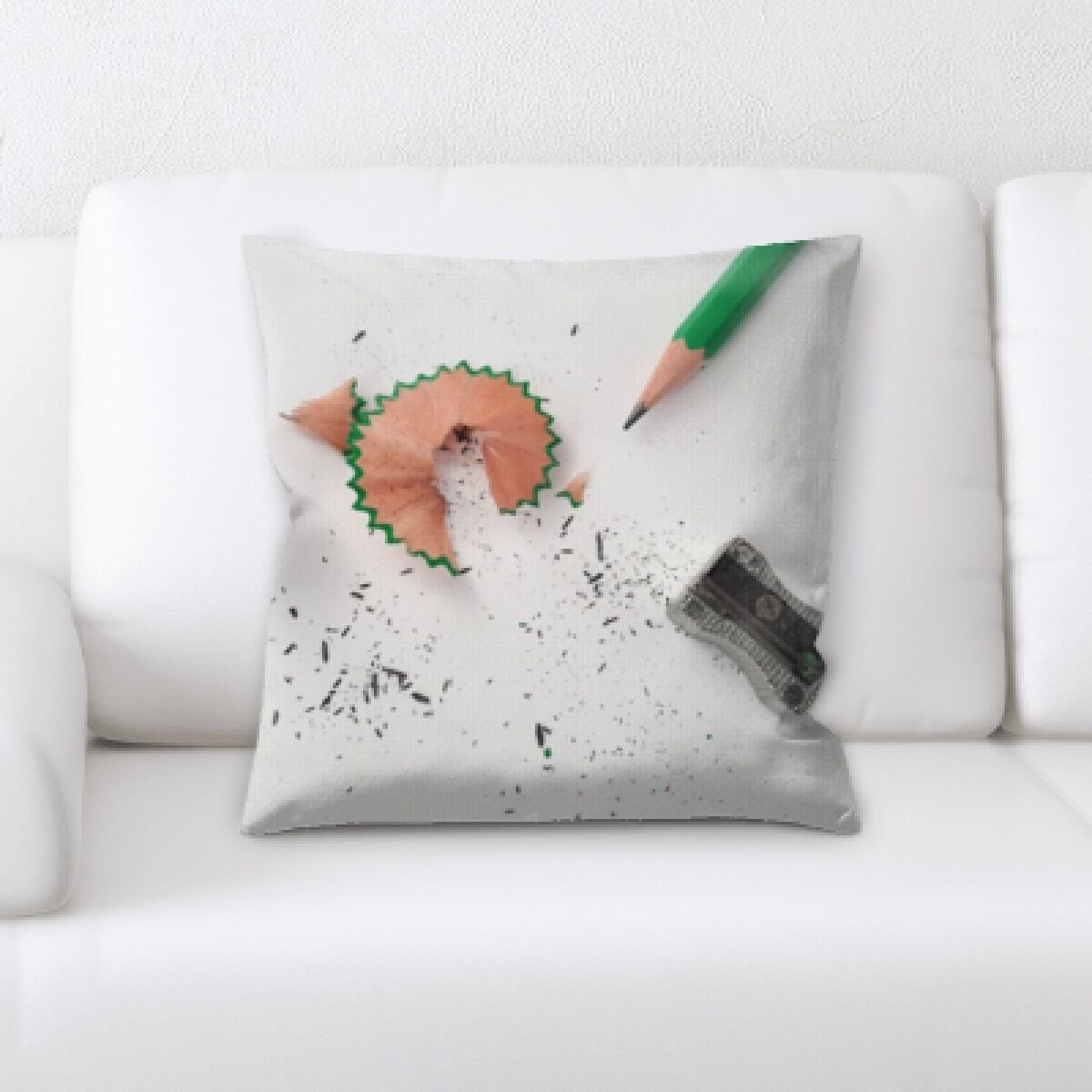 Wray Pencil and Sharpener Throw Pillow